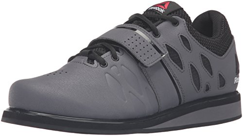 Reebok Men's Lifter Pr Cross-Trainer Shoe, Ash Grey/Black/White, 9 M US