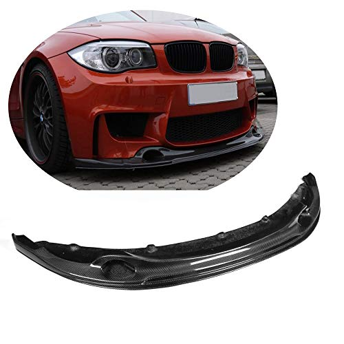 MCARCAR KIT Fits BMW 1 Series E82 1M 128i 135i Coupe 2011-2018 Customized Car Tuning 3D Look Carbon Fiber Front Bumper Lip Chin Spoiler