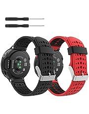 MoKo Armband för Garmin Forerunner 235/235 Lite / 220/230/620/630/735 – silikon ersättning klockarmband justerbart armband ersättning utbytbart armband