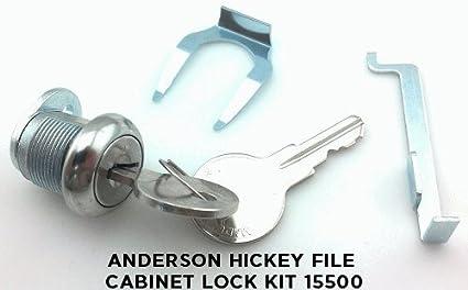 amazon com anderson hickey file cabinet lock kit 15500 home rh amazon com filing cabinet lock kit hon file cabinet replacement lock kit