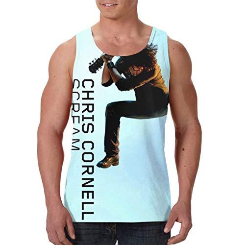CarterH Chris Cornell Scream Men's Classic Vest Tank Top Shirts XL Black (Chris Cornell Nearly Forgot My Broken Heart)