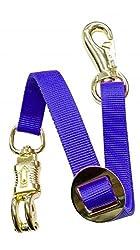 Adjustable Heavy Duty Trailer Tie Strap Panic Snap Bull Snap Horse Pony (Blue)