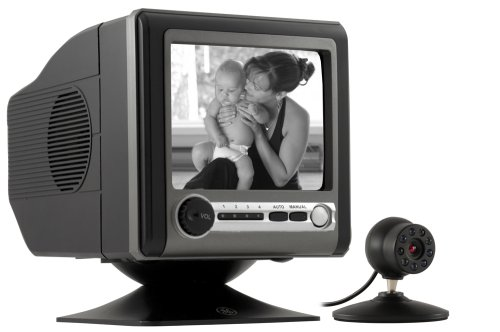 GE 45232 Wired Black and White 5-1/2-Inch Camera with Monitor