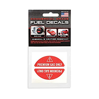 Premium Gas Stickers and Decals for Fuel-Caps – Super-Strong Adhesive and Weather-Resistant – 91, 93 Octane for Sports Cars, Hot Rods, Boats, ATV, SUV, and Classics – Durable Premium Gas Only Labels: Arts, Crafts & Sewing