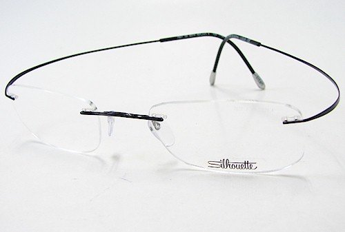 (SILHOUETTE Eyeglasses TMA Must Collection 7799 6074 Black Optical Frame 21x160mm)