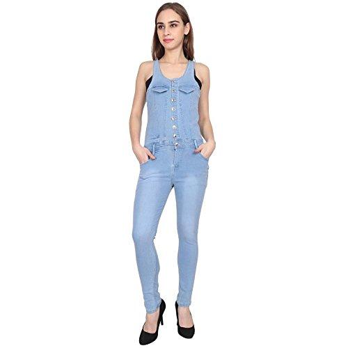 570c0da597b3 Sumitra Women s Denim Ice Blue Jumpsuits Dungaree  Amazon.in  Clothing    Accessories