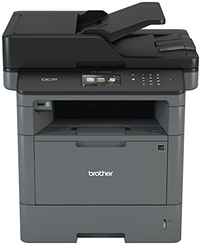 Brother Monochrome Laser Printer, Multifunction Printer and Copier, DCP-L5500DN, Flexible Network Connectivity, Duplex Printing, Mobile Printing & Scanning, Amazon Dash Replenishment Enabled ()