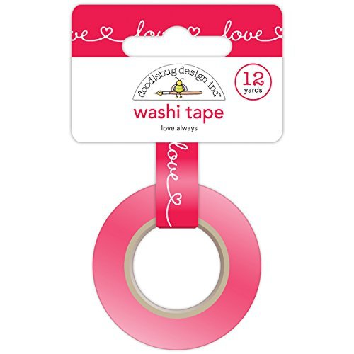 Doodlebug Washi Tape, 15mm by 12-Yard, Love Always by DOODLEBUG B0141O2M6K | Wunderbar