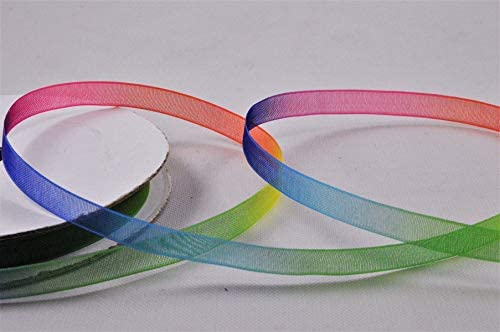 White 15 Meters Sheer Organza Ribbon 6mm