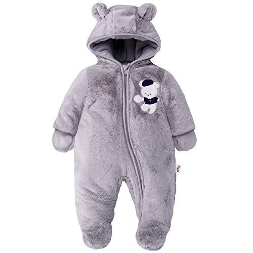 JiAmy Baby Hooded Romper Fleece Snowsuit Jumpsuit Lange mouw Herfst Winter Outfits voor 0-18 maanden