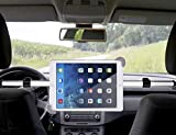 CEStore Airflow Design in-car Backseat Headrest Spring Loaded Telescopic Arm Extendable Mount Holder, Universal in-car Back Seat Portrait Landscape View Mount Tablet Laptop PC Holder Stand