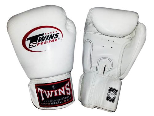 Twins BOXING Muay Thai GLOVES : White 10 Oz. by Twins