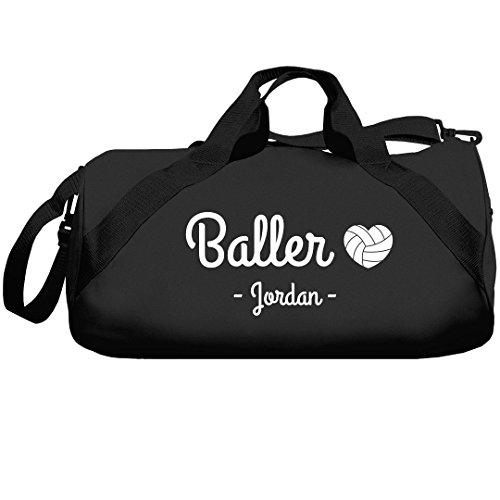 Baller Volleyball Girl Jordan Bag: Liberty Barrel Duffel Bag by FUNNYSHIRTS.ORG