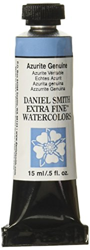 DANIEL SMITH Extra Fine Watercolor 15ml Paint Tube, Azurite Genuine