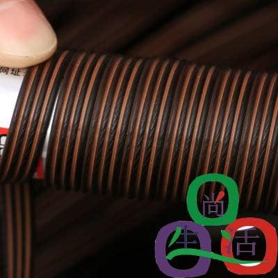 Coffee Gradient Flat Synthetic Plastic Imitation Rattan Basket Weaving Material