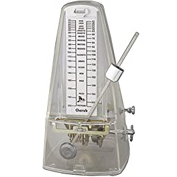 Cherub WSM-330 White | High Accuracy Mechanical Metronome Transparent