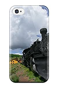 4/4s Scratch-proof Protection Case Cover For Iphone/ Hot Steam Engine Phone Case