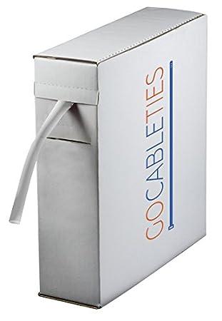 Gocableties Mini bobine de gaine thermor/étractable de qualit/é sup/érieure ratio de 2:1 19.1 mm x 5 m transparent
