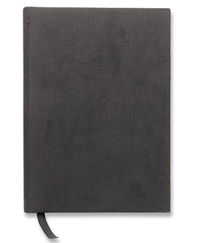 Unlined Blank Black Cover - Handmade 5 x 8 inches NoteBook Hard Cover Fabric, 200 Unlined Pages | Lay Flat Binding | Cream Paper, Green Read