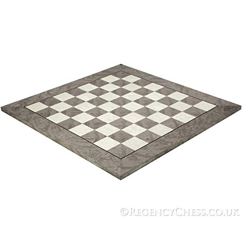 Regencychess 21.7 Inch Gloss Lacquered Ash Burl Deluxe Chess ()