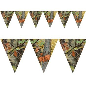 Creative Converting 1 Piece Hunting Havercamp Camo Hanging Flag Banners - 10 Feet Long Southern Birthday Celebration Party Decorations -