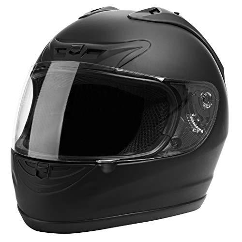 CARTMAN Motorcycle Modular Full Face Helmet DOT Approved, Matte Black, Large