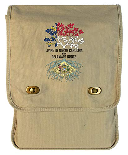 (Tenacitee Living In North Carolina with Delaware Roots Putty Canvas Field Bag )