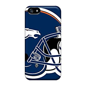 Anti-Scratch Cell-phone Hard Cover For Iphone 5/5s With Support Your Personal Customized Vivid Denver Broncos Skin CharlesPoirier