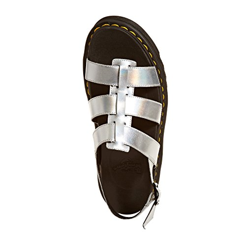 Dr. Martens Yelena In Ladies Sandals Metallic Metallic