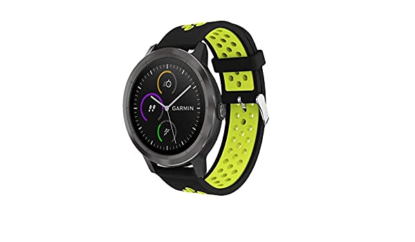 Amazon.com: Jewh Colorful Replacement - Sport Silicone Band Strap for Garmin Vivoactive 3 - Smart Watch Band - Bracelet Buckle Wrist Band 20mm Strap ...