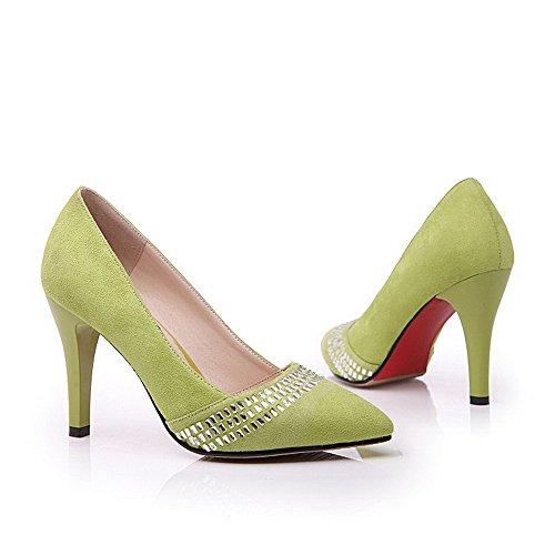 Smerigliati Talloni Pompe Solidi Delle Weipoot Donne Verdi Chiuso Indicata scarpe Punta Tirano qREfxFwx