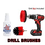 Grout Brush Cleaner Drill Brush Set, Shower Door, Tile Floor Cleaner, Great Baseboard Cleaner Tool Attachment, Remove Soap Scum