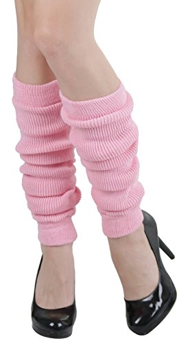 ToBeInStyle Women's Footless Acrylic Thigh Hi Leg Warmer - BABY PINK - OSR