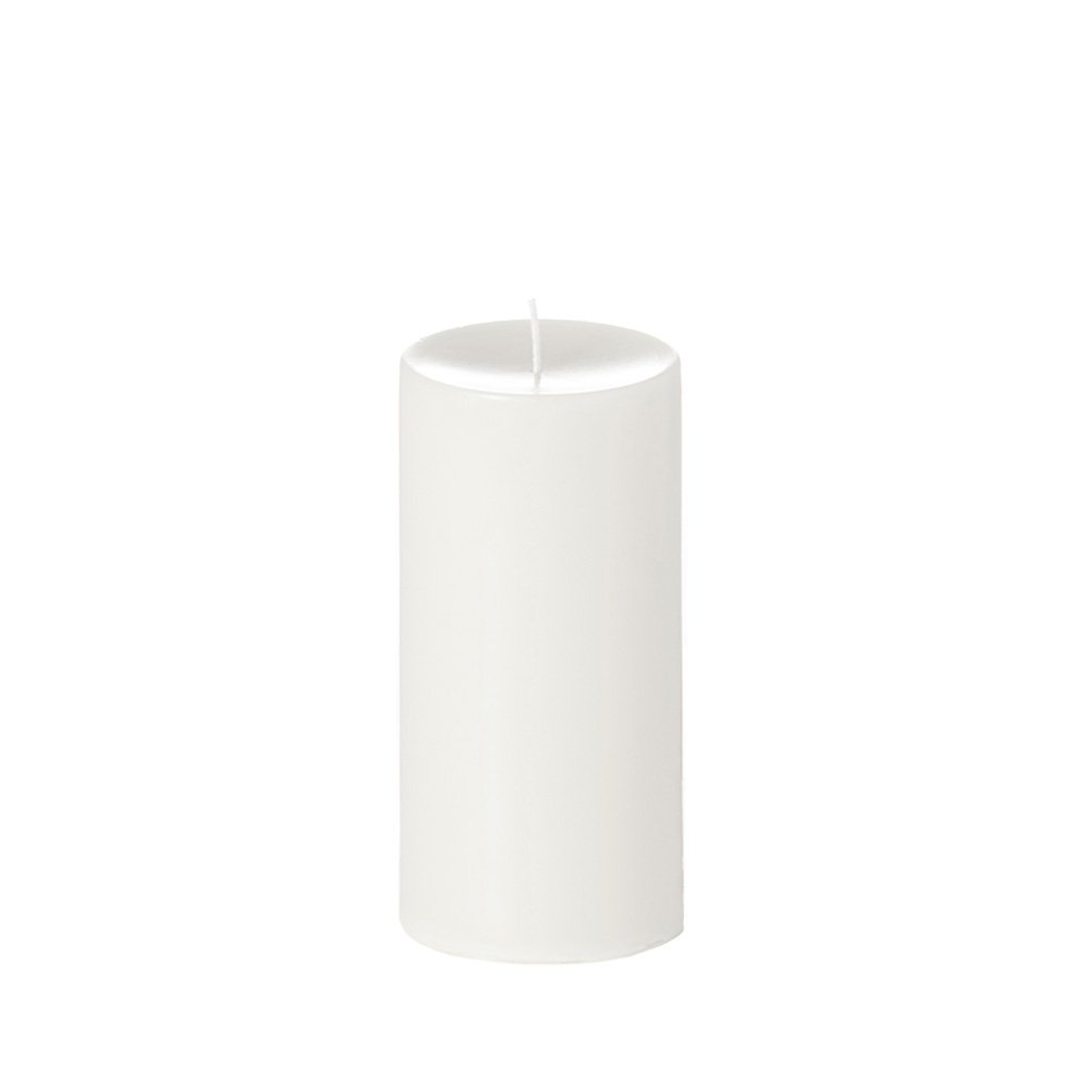 Yummi 4x8 Unscented Column Pillar Candle, White, ea