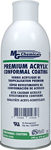 MG Chemicals Premium Acrylic Conformal Coating, Clear Finish, 12 oz, Aerosol Can