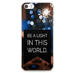 iPhone SE Transparent Edge Phone case Light Phone Case Light World iPhone SE Cover with Transparent Frame