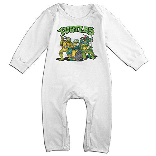[VanillaBubble Turtles For 6-24 Months Newborn Funnies Tshirt White Size 12 Months] (Dwayne Johnson Baby Costume)