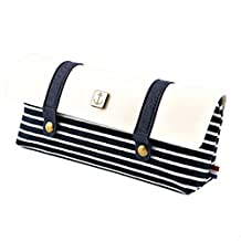 Navy Style Students Cute Pen Bag Pencil Case Stationery Pen Boxes,Black