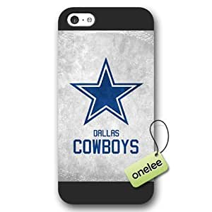 Personalize NFL Dallas Cowboys Team Logo Frosted Case For HTC One M7 Cover Black Case CovBlack