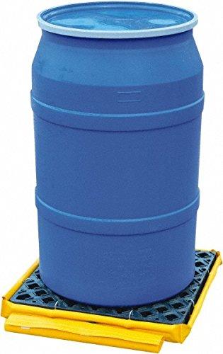 UltraTech 1360 Polyethylene P1 Flexible 1-Drum Ultra-Spill Deck Bladder System, 1500 lbs Capacity, 82'' Length x 66'' Width x 5'' Height, Yellow