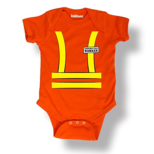 Construction Worker Tuxedo Tee Safety Vest Dress Up Costume Infant Baby Bodysuit