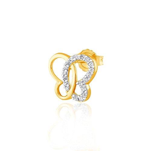 Giantti Diamant pour femme Boucles d'oreilles à tige (0.152CT, qualité HSI, Gh-colour)
