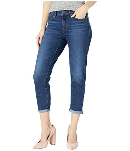Denim Capri Crop Pants - Levi's Women's Classic Crop Jeans, Dark Indigo Moon, 28 (US 6)