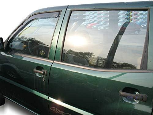 2 unidades J/&J Deflectores de viento para Nissan Terrano II 3//5 puertas 1993-2004