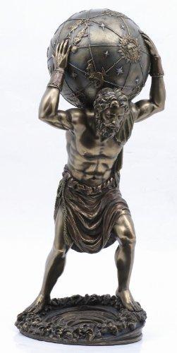 (PTC 11.75 Inch Man with Atlas Globe Shrugged Resin Statue Figurine)