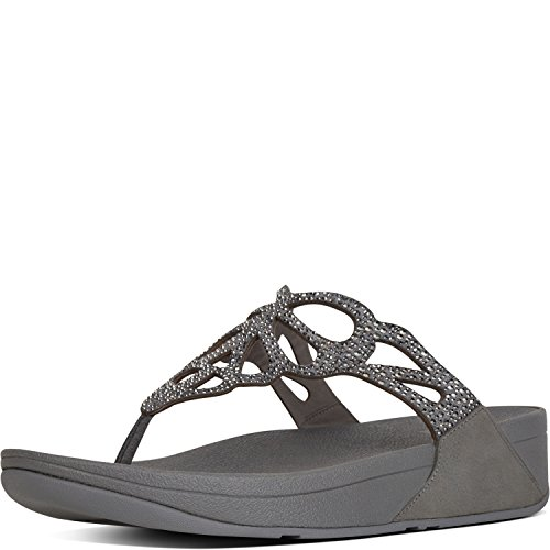 outlet authentic FitFlop H69 Women's Bumble Crystal Toe Post Sandal Pewter 2014 cheap price discount latest collections cheap geniue stockist cheap prices 7DI6d