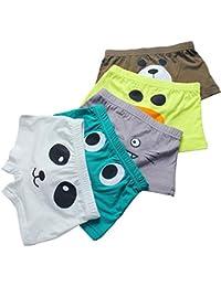 5 - Pack Big Boys Soft Breathable Little Kids Underwear, Toddler Boy Boxer Briefs
