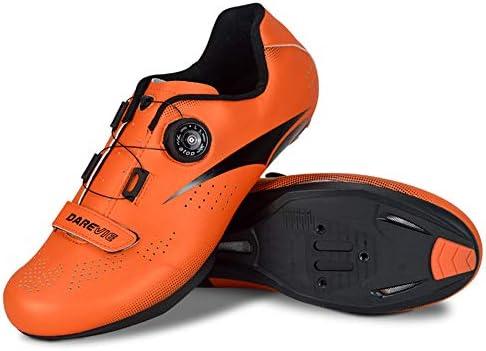 TTW Zapatillas Ciclismo de Carretera para Hombre Zapatillas Bicicleta SPD Antideslizantes con Autobloqueo y Hebilla Giratoria Ajustable Zapatillas Ciclismo MTB Ultraligeras Transpirables,Naranja,40: Amazon.es: Hogar