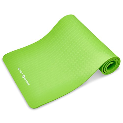 Extra Thick Eco Friendly Yoga Mat With Carrying Strap For