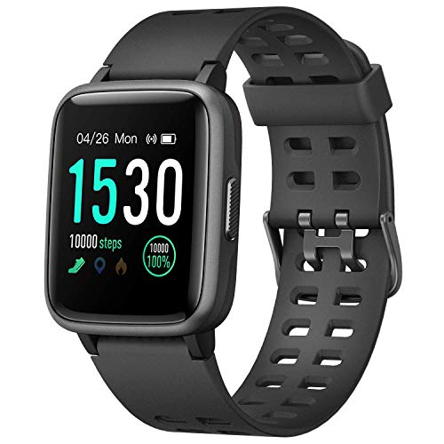 "Letsfit Smart Watch, Fitness Tracker with Heart Rate Monitor, Activity Tracker with 1.3"" Touch Screen, IP68 Waterproof Step Counter, Sleep Monitor, Pedometer Smartwatch for Women Men Kids"